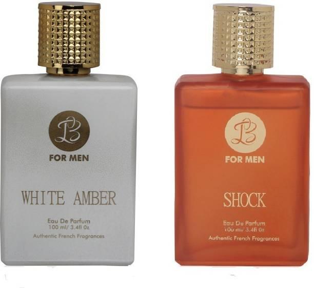 Lyla Blanc WHITE- AMBER -SHOCK Perfume- Spray for Men- (Set of 2) (100ml each) Eau de Parfum  -  100 ml