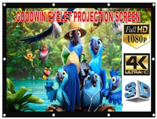 Goodwin 7.25FTX 5FT 100 INCH D EYELET SCREEN Projector Screen (Width 87 cm x 52 cm Height)