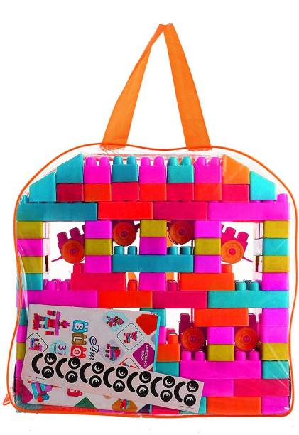 TamBoora Expert Building Blocks for Kids, 100 Pieces Blocks. let Your Kid Make Everything he/she Dreams of. Improves Logical Thinking and Cognitive Skills of Kids