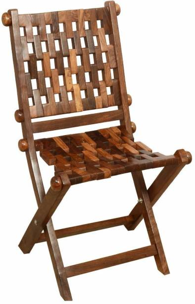 ADA Handicraft Pakka Sheesham Wood Easy-to-Carry Folding Gitti Chair with Comfortable Back Support Mechanism Engineered Wood 1 Seater Rocking Chairs