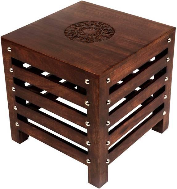 Amaze Shoppee Amaze Shoppee Wooden Beautiful Handmade Stool (Brown) Stool