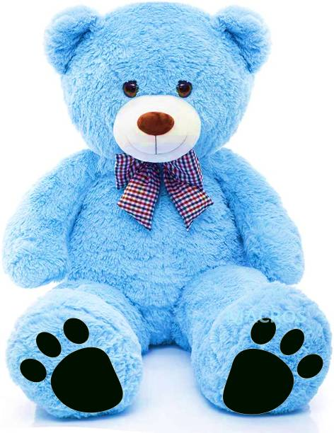Macros Large Very Soft to Lovable & Huggable Blue 3 feet Teddy Bear for Girlfriend/ cute Valentine/Birthday Gifts/Boy/Girl/Kids  - 36 inch