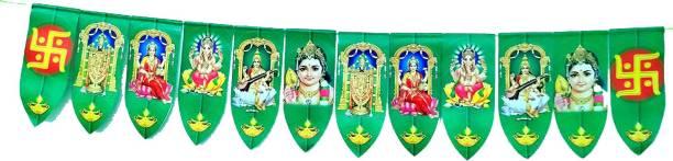 snehatrends Indian Gods Plastic Door Hanging Washable Torana 90CM Length Pack of 1 Toran