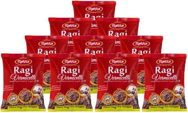 Manna Ragi (Finger Millet)  Noodles (Semia) | Zero Maida | High in Iron, Calcium & Protein Vermicelli 1200 g