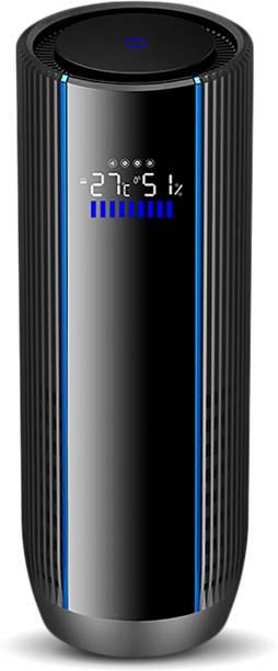 GoMechanic Air Purifier CupHolder Black Portable Car Air Purifier