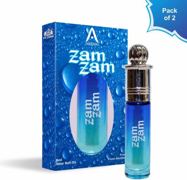 ST-JOHN Attar Zam Zam 8ml Pack Of 2 | Floral Attar