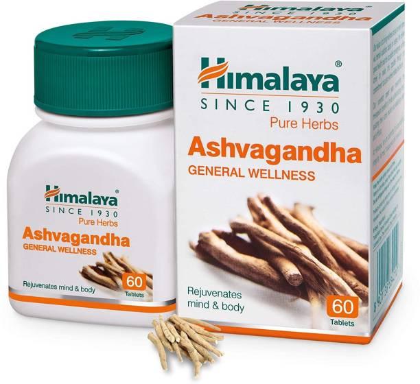HIMALAYA Ashvagandha General Wellness 60 Tablets (Rejuvenates mind and body)
