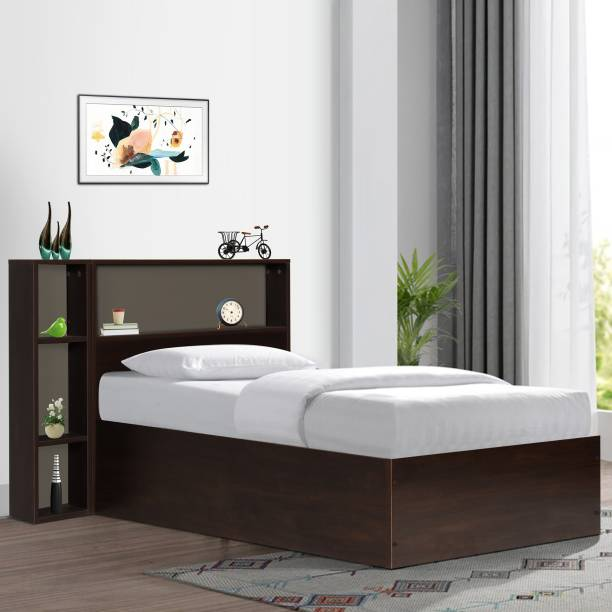 TREVI Opal Single Bed Without Storage Engineered Wood Single Bed