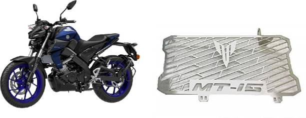 SELVIKE Radiator Grill For MT15 Blue-Indigo Bike Radiator Guard