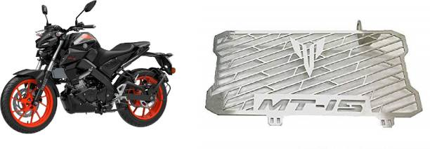 SELVIKE Radiator Grill For MT15 Black-Vermillion Bike Radiator Guard