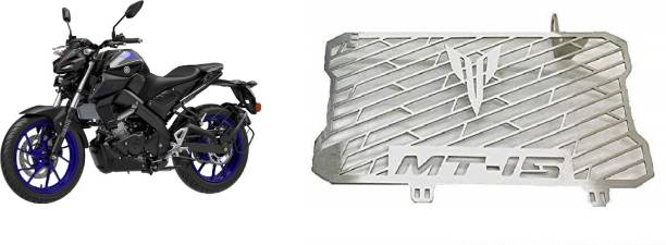 SELVIKE Radiator Grill For MT15 Black-Indigo Bike Radiator Guard