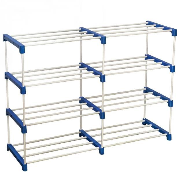 CMerchants Multi Organiser BLue-8 Book Shelf Metal Open Book Shelf