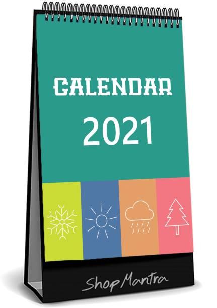"RadhikaStore Cute Icon Desk Calendar-Table Calendar 2021 ( Size 5.5"" Inch x 8"" Inch ) 2021 Table Calendar"