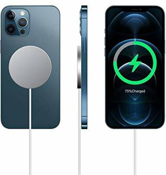 GiftMax Wireless Charger for iPhone, 15W Fast Charging Qi Magnetic Charging Pad Compatible with iPhone 12, 12 Mini, 12 Pro, 12 Pro Max ( USB C Port + Free Type C to USB A Connector) Charging Pad