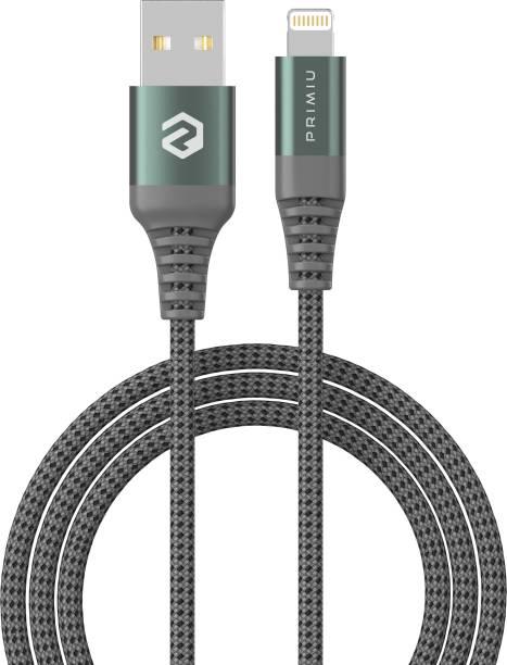Primiu 6 ft long Nylon Braided Tough 2.4 A 1.8 m Lightning Cable