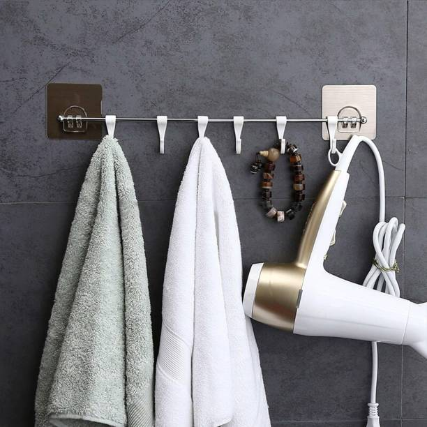 AMMEDARSHAN Multi-Functional Six Groups Without Drilling Hook,Kitchen Utensils Rack Holder Door Hanger