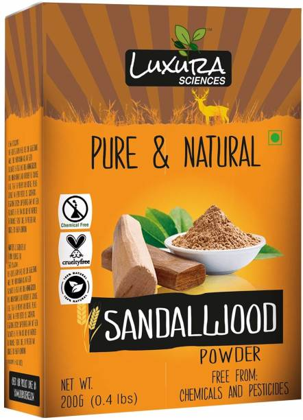 LUXURA SCIENCES Sandal Wood Powder For Face,Skin, and Hair 200 Gms