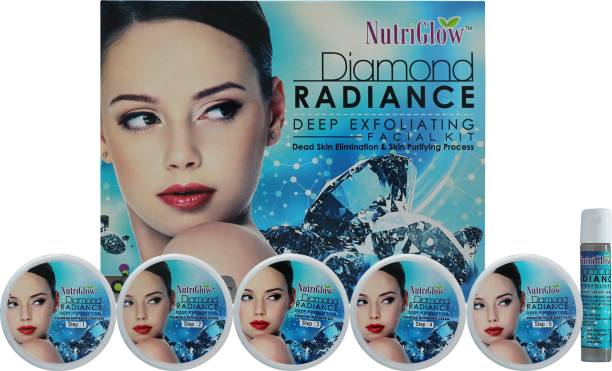 NutriGlow Diamond Radiance Deep Exfoliating Facial Kit/ Dead Skin Elimination/ Acne Free Skin