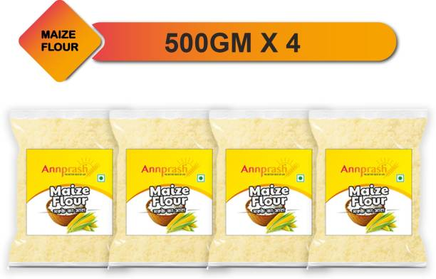 ANNPRASH Premium Quality Maize Flour/Corn Flour / Makka Atta - 2KG (500GMx4)