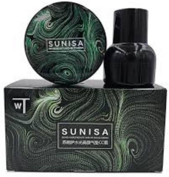 sunisa WATER BEAUY & AIR PAD CC CREAM FOUNDATION,100% ORIGINAL Foundation