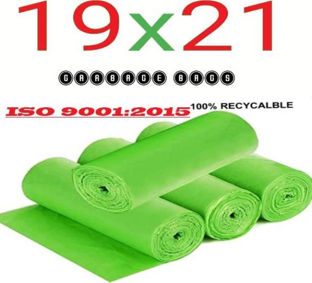 hirdeshanusar GREEN GARBAGE BAGS FOR HOME/ RESTORENT/SCHOOL/OFFICE SIZE SMALL/ MEDIUM/ LARGE / 19*21 / GARBAGE HOLDER / GREEN Medium 16 L Garbage Bag (120 Bags) Medium 16 L Garbage Bag