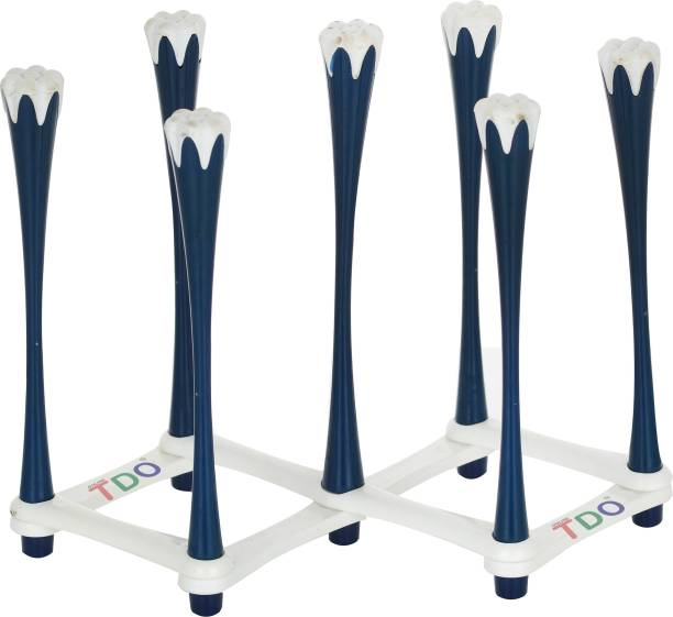 TDO Stylish Glass Stand for Glasses Holder   Glass Stand Made Virgin Plastic BLUE Plastic Glass Holder