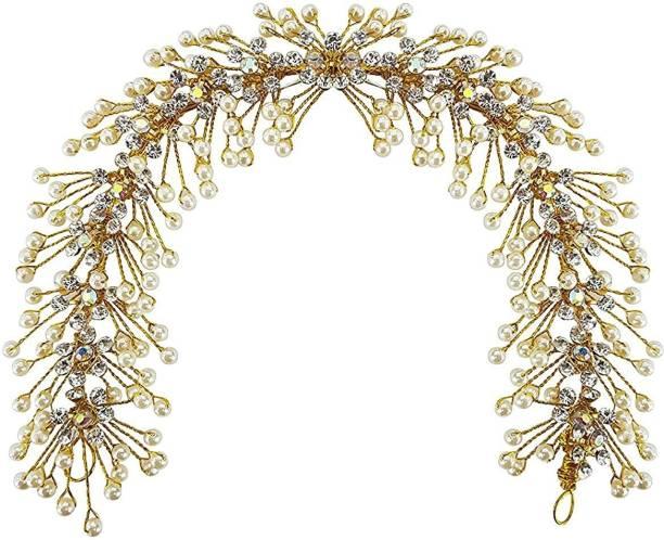 VAGHBHATT tylish Golden Beads Juda Hair Gajra for Bun Maker Hair Accessories Bun