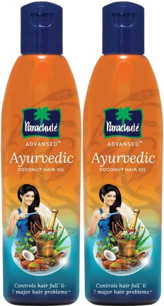 Parachute Advansed Ayurvedic Coconut Oil, Controls Hairfall and 7 Major Hair Problems Hair Oil