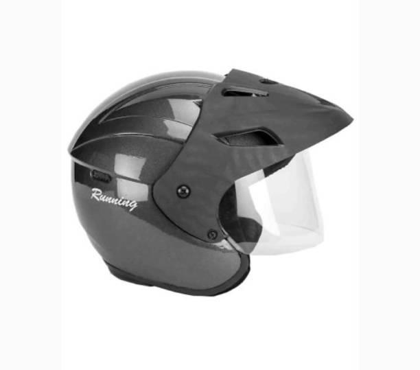 MonteX-1 Silver Black open face helmet With Cap Motorbike Helmet