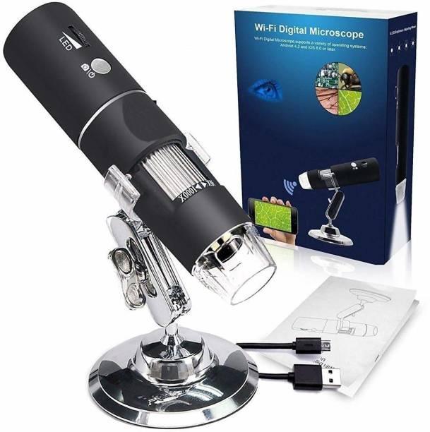SMACC WiFi Digital Microscope,50X-1000X Handheld Digital Zoom Microscope Endoscope Magnifier HD 2MP 8 LED