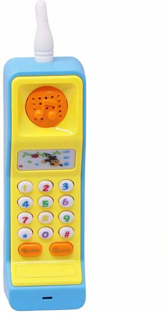 vworld Mobile Phone Toy Intelligent Multi Function Learning Machine Study Learn Words Sing Song Plastic Hobby Intelligence Gifts Educational for Kids (Pack Of 1)