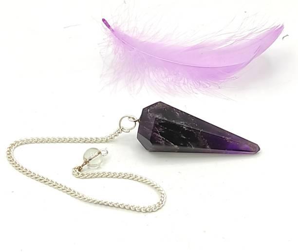 PlusValue Purple Amethyst Quartz Dowsing Pendulum For Dowsing Expert & Masters Decorative Showpiece  -  4 cm