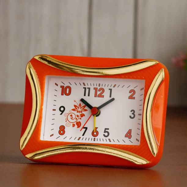 DivineCrafts Analog Orange Clock