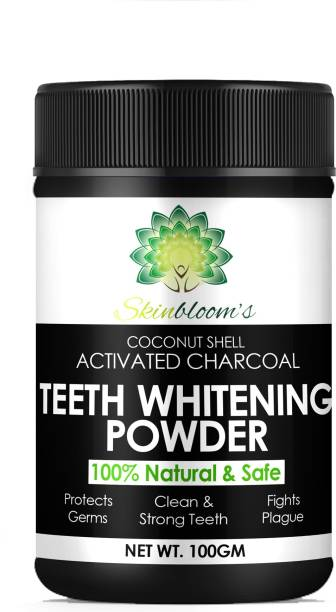 skinblooms Advance Charcoal Activated Teeth Whitening Powder (100g) | Charcoal Activated | Coconut Shell