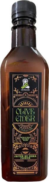 Herbaveda Pure Olive cider vinegar (450ml) | Jaitun Ka Sirka | Zaitun Ka Sirka | Controls diabetes, Good for skin Vinegar