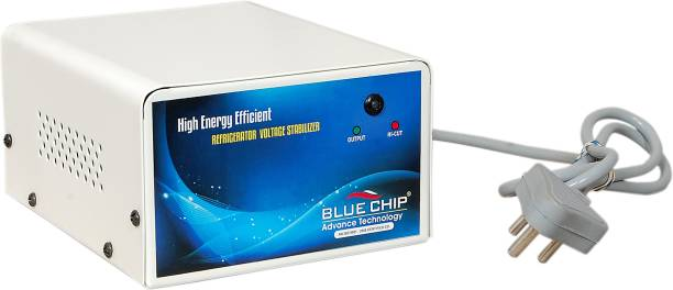 BLUECHIP Voltage Stabilizer for Refrigerator/Fridge - 130-280 V , 3.1 Amp | Compatible With Upto 400 litres , Wide Working Range , Heavy Body - 3 Years Warranty , Micro controller Card Voltage Stabilizer