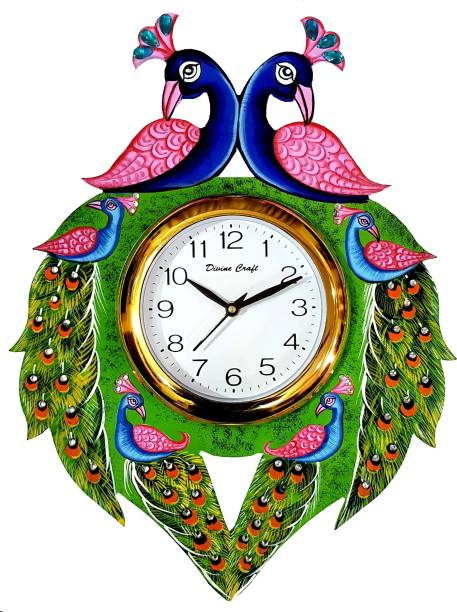 DivineCrafts Analog 32.5 cm X 32.5 cm Wall Clock