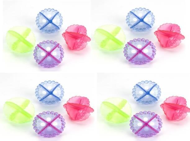 GAJANAN ENTERPRIS Transparent Silicone Washing Machine Ball Laundry Dryer Ball Durable Cloth Cleaning Ball (Set of 4) Detergent Bar
