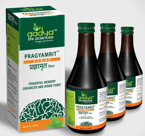 Aadya Life Pragyamrit Syrup,for Optimize Brain Performance and mental health