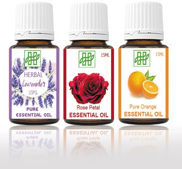 Himachal Herbal LAVENDER ORANGE ROSE ESSENTIAL OIL FOR COSMETIC SOAP MAKING AROMATHERAPY