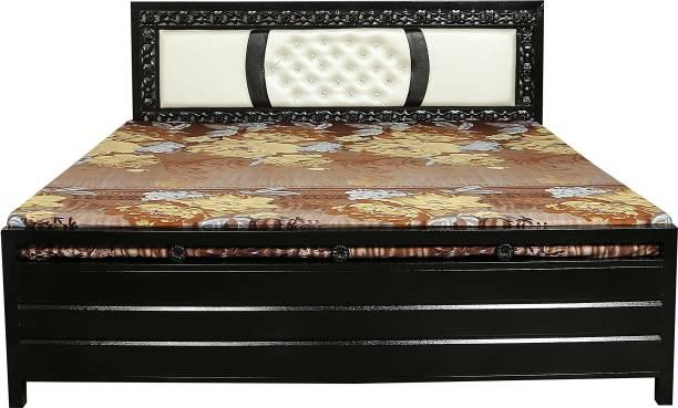 INDIAN FURNITURE MART Metal Queen Hydraulic Bed