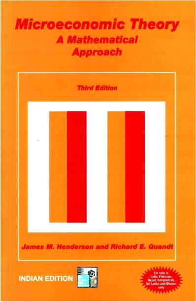 Microeconomic Thoery 3/E - A Mathematical Approach