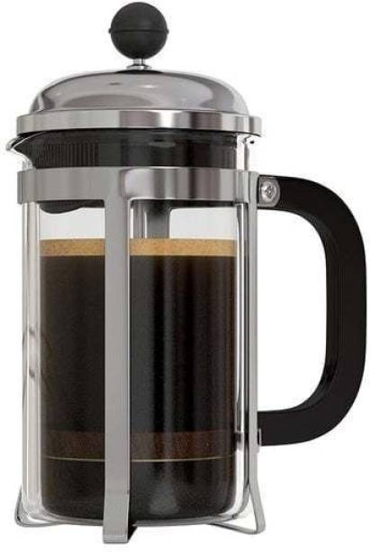 INSTACUPPA French Press 600ml with 3 Part Superior Filter BPA Free Borosilicate Glass Carafe Heat Resistant Handle 6 cups Coffee Maker