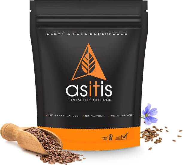 AS-IT-IS Nutrition Organic Flax Seeds - 600g | Excellent Vegan Source Of Omega-3s | Antioxidant-Rich | Fibre-Rich | Nutritious
