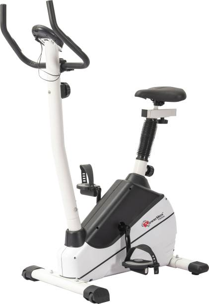 Powermax Fitness BU-610 Magnetic Upright Bike with LCD Display Upright Stationary Exercise Bike