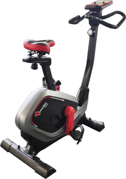 Powermax Fitness BU-650 Magnetic Upright Bike with LCD Display Upright Stationary Exercise Bike