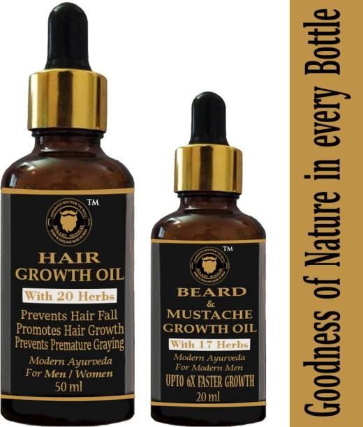 Daarimooch beard growth & hair growth oil pack Hair Oil