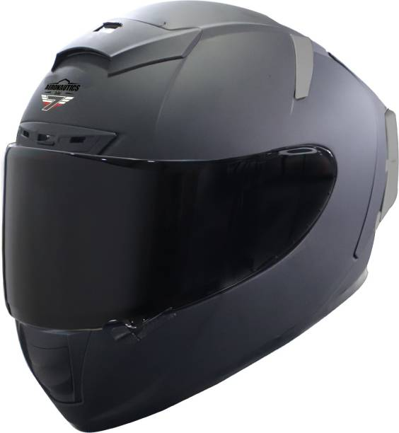 Steelbird SA-2 7Wings Super Aeronautics Full Face Helmet in Matt Midnight Black Motorbike Helmet