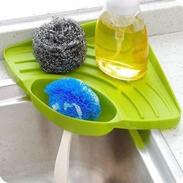 Ey CATCHING Multipurpose Must Have Corner Sink Wash Basin Storage Organizer Dish Drainer Kitchen Rack