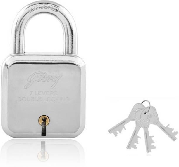 Godrej 7 levers square lock (4 keys) Padlock